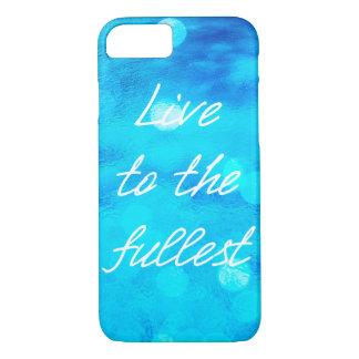 """Océan bleu """"vivant dans le plus plein"""" cas de coque iPhone 7"""