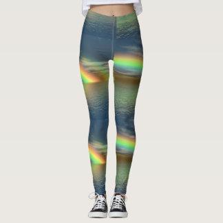 Océan de pantalon de yoga d'arcs-en-ciel leggings