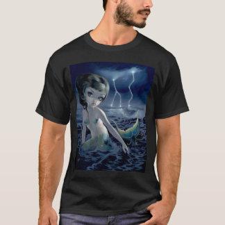 Océan de tempête de foudre de CHEMISE de sirène de T-shirt