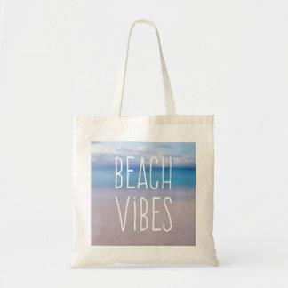 Océan de vibraphone de plage bel et paradis de tote bag