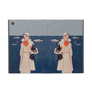 Océan vintage de chien de Madame In White Scotty Coque iPad Mini
