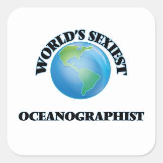 Oceanographist le plus sexy du monde sticker carré