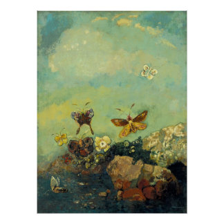 Odilon Redon - papillons Posters