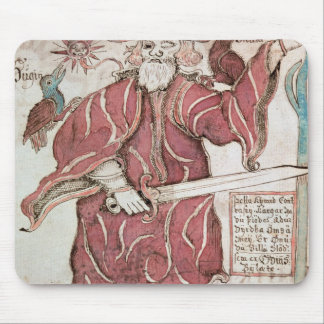 Odin, avec ses deux corneilles, Hugin et Munin Tapis De Souris