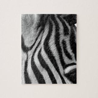 Oeil animal abstrait de zèbre puzzle