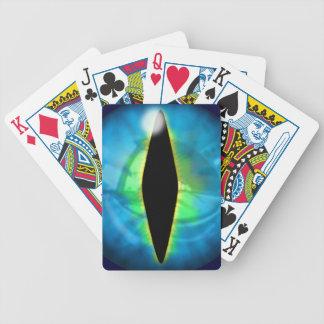 Oeil bleu de dragon cartes bicycle poker