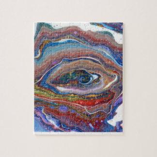 Oeil cosmique du puzzle d'univers