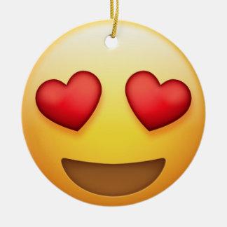 Oeil de coeur et ornement d'Emoji de baiser