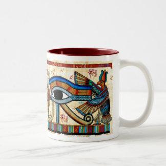OEIL de collection de HORUS Mug Bicolore