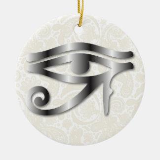 Oeil de Horus - acier 1 - ornement
