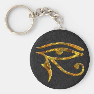Oeil de Horus - OR Porte-clé Rond
