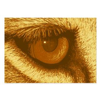 Oeil de lions, Brown et pastel jaune Carte De Visite Grand Format