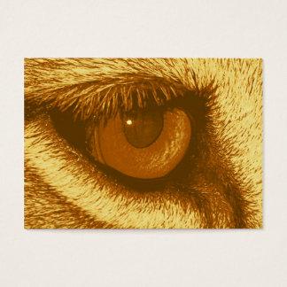 Oeil de lions, Brown et pastel jaune Cartes De Visite