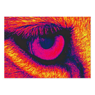 Oeil de lions en rouge carte de visite grand format