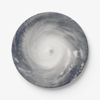 Oeil de l'ouragan assiettes en papier