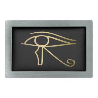 Oeil de symbole d'Egyptien de Horus Boucles De Ceinture Rectangulaires