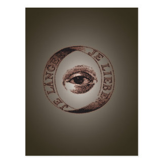 Oeil d'Illuminati Carte Postale