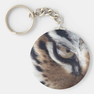 Oeil d'un tigre porte-clé rond