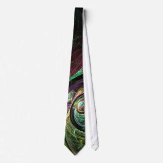 Oeil pour observer la cravate d'art abstrait
