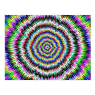 oeil rechignant la carte postale psychédélique