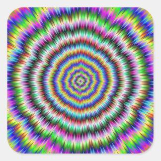 oeil rechignant l'autocollant psychédélique sticker carré
