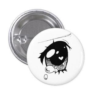 oeil triste d'anime : (mini bouton badge