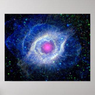 Oeil ultra-violet de nébuleuse d'hélice de photo poster