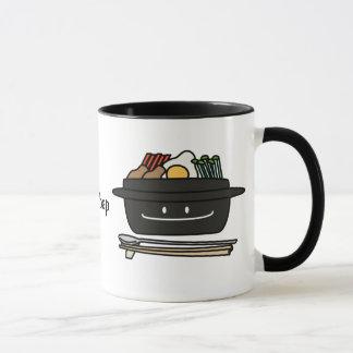 Oeuf coréen de légumes de namul de bol de riz de mug