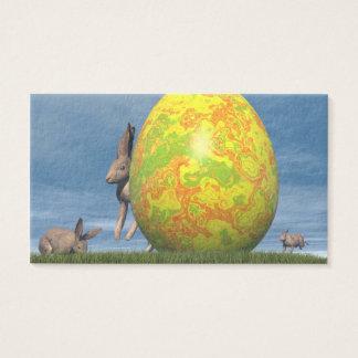 Oeuf de pâques - 3D rendent Cartes De Visite