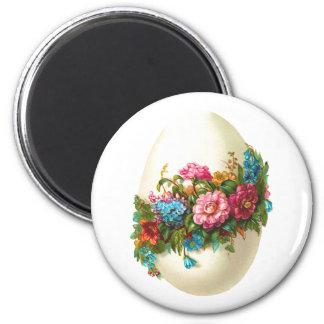 Oeuf de pâques floral magnet rond 8 cm