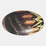 Oeuf de pâques peint à la main d'Ukrainien Stickers Ovales