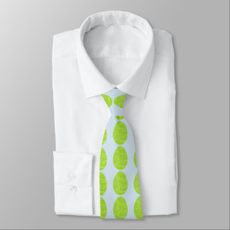 Oeuf de pâques rayé de vert de ressort cravates