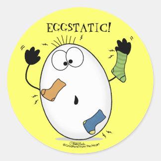 Oeuf Eggstatic-Enthousiaste Sticker Rond