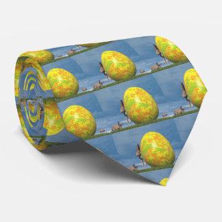 Oeuf et lièvres de pâques - 3D rendent Cravates