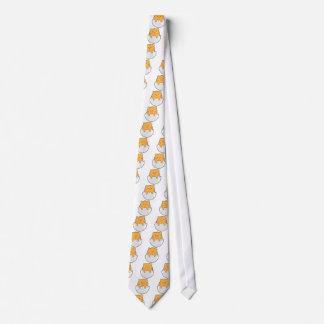 Oeuf jaune de chat cravate