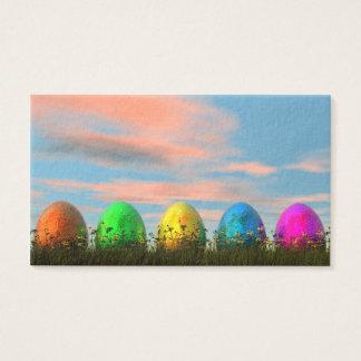 Oeufs colorés pour Pâques - 3D rendent Cartes De Visite