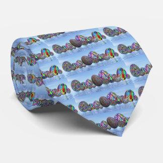 Oeufs colorés pour Pâques - 3D rendent Cravates