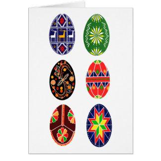 Oeufs de pâques d'Ukrainien de Pysanky Carte De Vœux