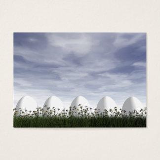 Oeufs de pâques en nature par jour nuageux - 3D Cartes De Visite