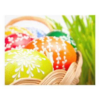 Oeufs de pâques prospectus en couleur