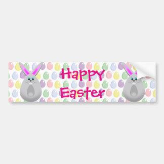 Oeufs en pastel de lapin de Pâques Autocollant Pour Voiture