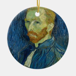 Oeuvre d'art d'autoportrait de Vincent van Gogh Ornement Rond En Céramique