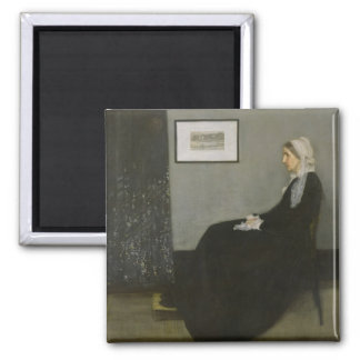 Oeuvre d'art de Whistler Magnet Carré