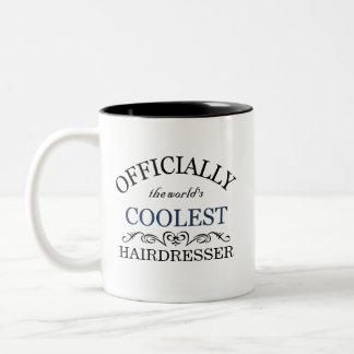 Officiellement le coiffeur le plus frais du monde tasse 2 couleurs