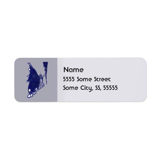 Offre de glaçon étiquette d'adresse retour