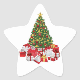 Oh arbre de Noël Sticker Étoile