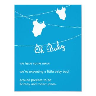 Oh bébé ! Faire-part de grossesse Carton D'invitation 10,79 Cm X 13,97 Cm