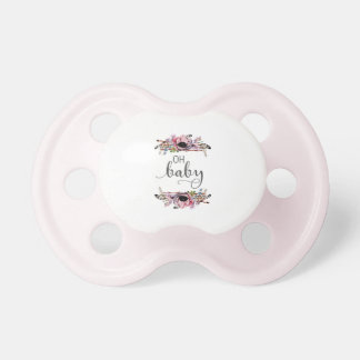 Oh bébé floral chic de guirlande du bébé | Boho Tétine