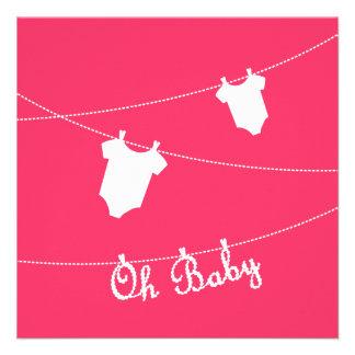 Oh bébé Invitation de baby shower