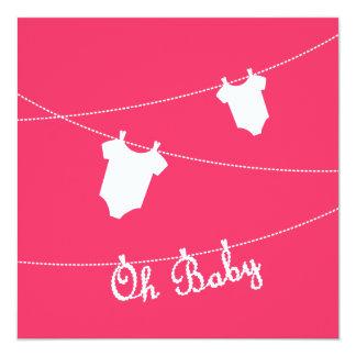 Oh bébé ! Invitation de baby shower Carton D'invitation 13,33 Cm